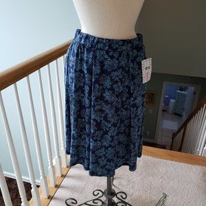 New Lularoe Blue Floral Madison Skirt S NWT Small